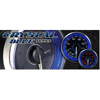 Prosport Crystal Blue Series 52mm Oil Pressure PSI
