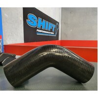 45 Degree Silicone Hose BLACK 63mm (2.5 Inch) Intercooler Turbo
