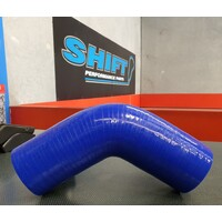 45 Degree Silicone Hose BLUE 63mm (2.5 Inch) Intercooler Turbo