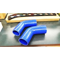 45 Degree Silicone Hose BLUE 76mm (3 Inch) Intercooler Turbo