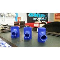 T Joiner Silicone Hose BLUE 60mm (2.25 Inch) Intercooler Turbo Blow Off Valve