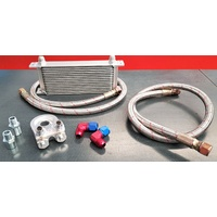 SPP Engine Oil Cooler Kit 15 Row With Thermostat British Style