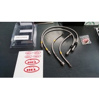 HEL Braided Brake Line Kit - Clear - Mitsubishi EVO 7