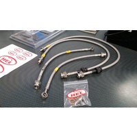 HEL Braided Brake Line Kit - Clear - Mitsubishi EVO 8 8MR 9 IX