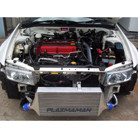 Plazmaman Evo 4-6 Race Swept Back Intercooler Kit Silver