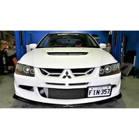 Rexpeed R-Type Ralliart Style Carbon Front Lip Mitsubishi EVO 8 GSR 8 MR