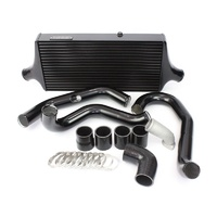 Plazmaman Evo 9 Race Swept Back Intercooler Kit Black