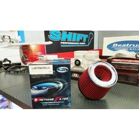 "Simota Racing Dual Entry 3"" Air Filter RED Width-151mm x Height-130mm"