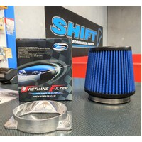 Simota Blue Dual Entry Air Filter Kit - Mitsubishi EVO 6 7 8 9 Galant Pajero