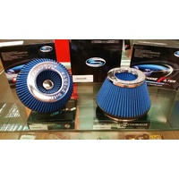 "Simota Dual Entry 6"" High Flow Air Filter (Blue)"