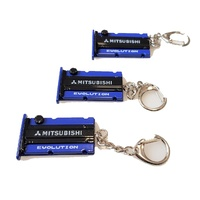 Mitsubishi EVO Engine Cam Cover Key Ring BLUE