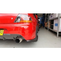 Rexpeed Damd Style Carbon Rear Bumper Extensions - Suits Mitsubishi EVO 9 IX