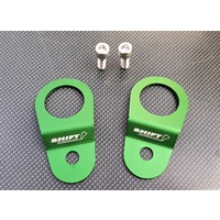 SPP Radiator Bracket Stay Kit - Green - Mitsubishi EVO 7 8 8MR 9 IX