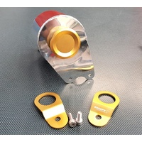 SPP Aluminium Radiator Overflow Bottle & Stays - Gold - Mitsubishi EVO 7, 8, 9 IX