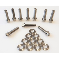 SPP Titanium 12 Point Bolt & Washer Kit M6 x 1.0mm Mitsubishi EVO Engine Cover