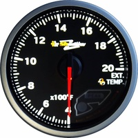 Shadow Pro 2 CF 60mm Exhaust Temperature Gauge EVO Silvia Skyline GTR