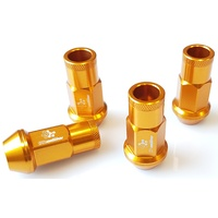 Shadow Racing Wheel Nuts - Gold - M12 x 1.25P suits Nissan Subaru Suzuki