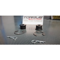 Torque Solution Shifter Cable Bushings - 5-Speed Mitsubishi EVO 6 7 8 AUS