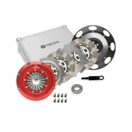 Mantic Pull Type Twin Plate Ceramic Clutch & Flywheel Kit - Suits Nissan Skyline R33 GT-R